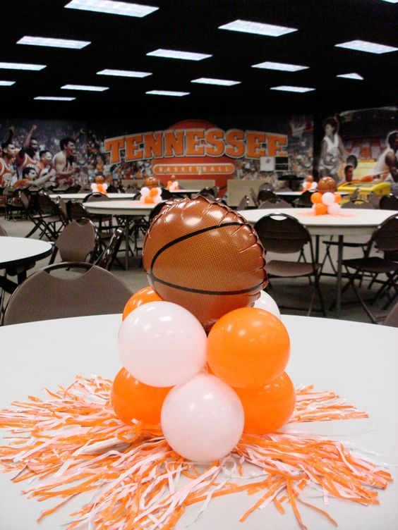 centro de mesa de basketball