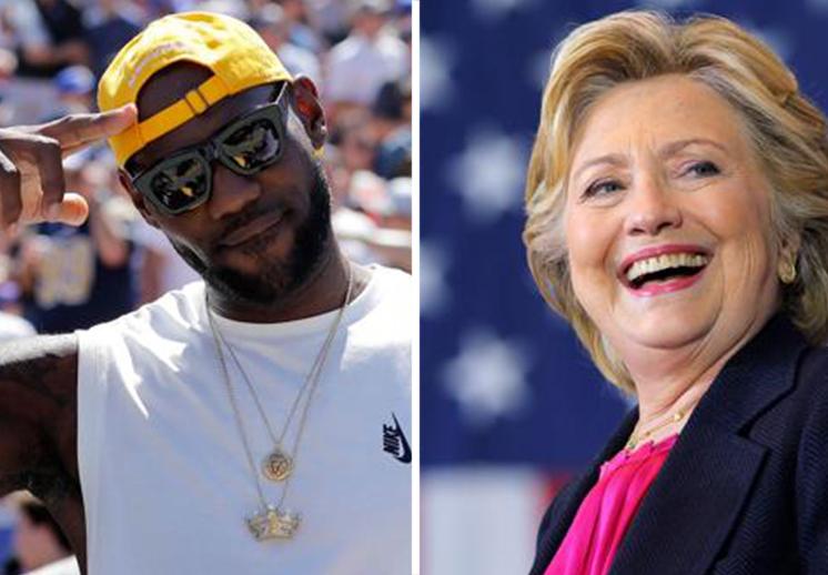 LeBron se declaró partidario de Hilary Clinton