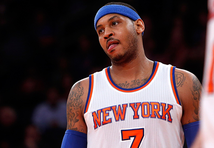 Carmelo Anthony mostró su enojo por no estar en el top ten