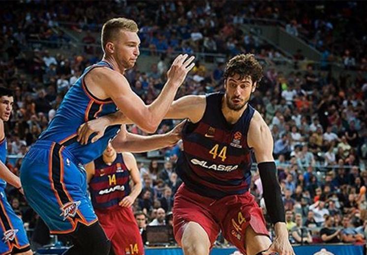 Oklahoma venció al Barcelona a domicilio