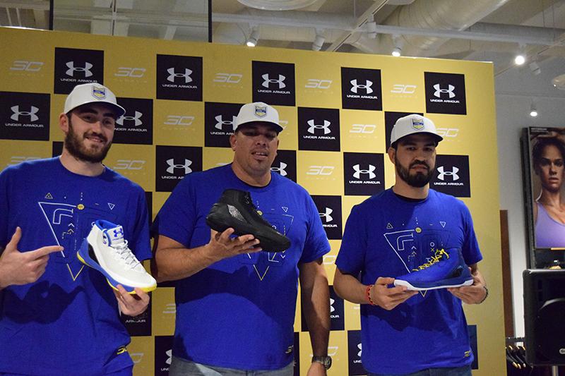 Israel Gutiérrez, Chino López y Horacio Llamas en el lanzamiento de los Curry 3 de under armour foto 2