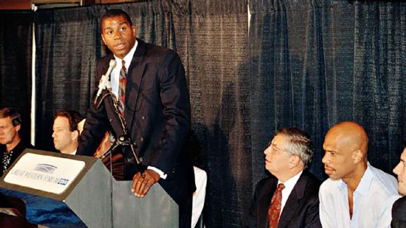 Magic Johnson 25 años de luchar por su vida