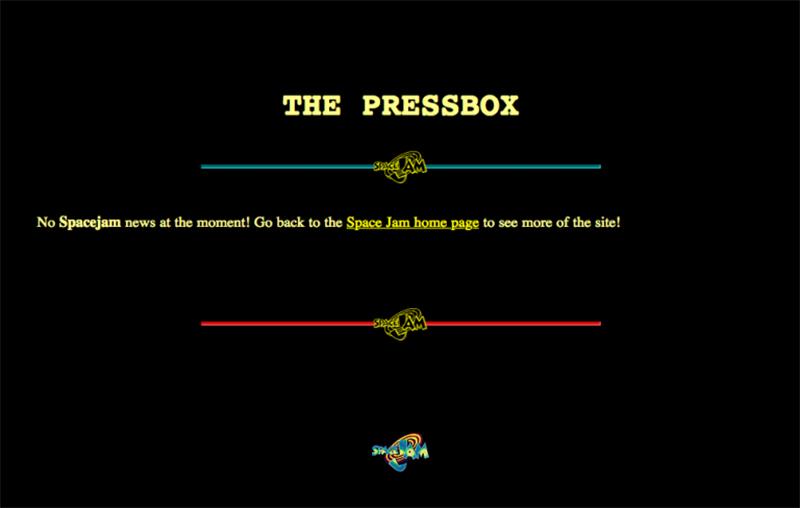 imagenes de la pagina web de space jam qeu no ha cambiado desde 1996, foto 6