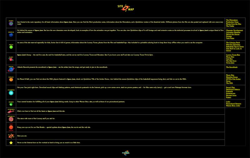 imagenes de la pagina web de space jam qeu no ha cambiado desde 1996, foto 3