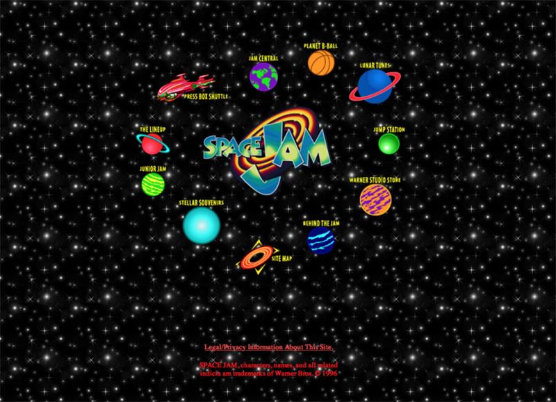 imagenes de la pagina web de space jam qeu no ha cambiado desde 1996, foto 4