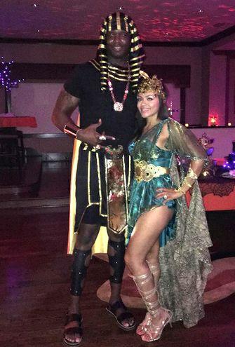 Noche de Halloween en la NBA. jermanie o neal de egipcio