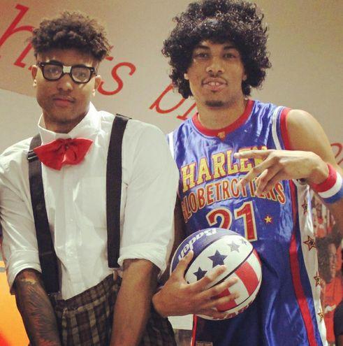 Noche de Halloween en la NBA. oubre y porter disfrasados