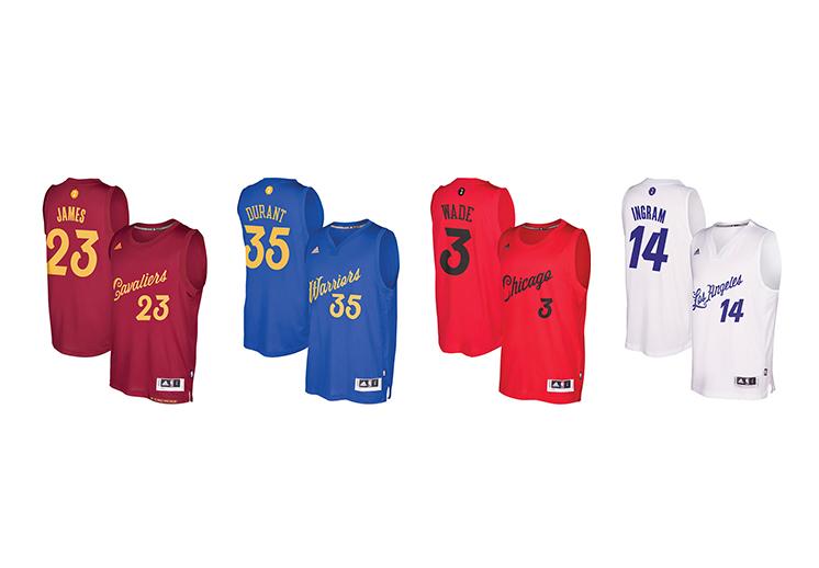 A la venta los jerseys para el día de Navidad en la NBA.