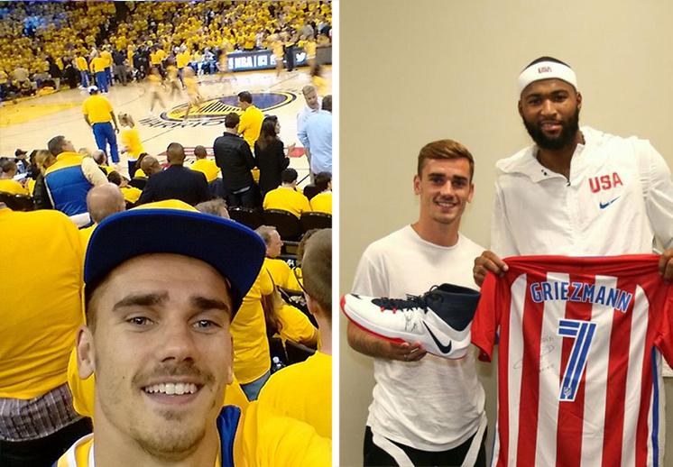 thumbnail. Antoine Griezmann fanático de la NBA