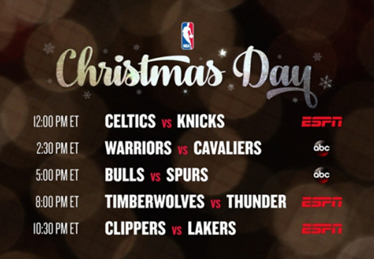 Llegó la navidad a la NBA