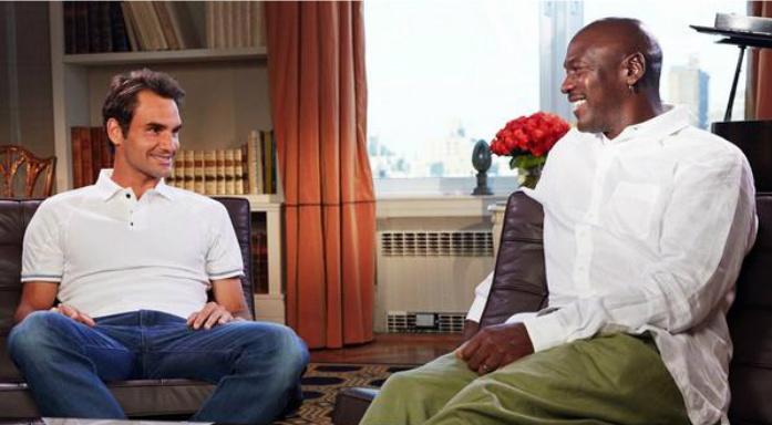 Roger Federer fanático de Michael Jordan