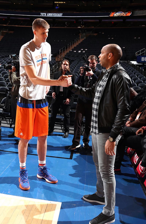 Thierry Henry de visita en el Madison Square Garden foto 3