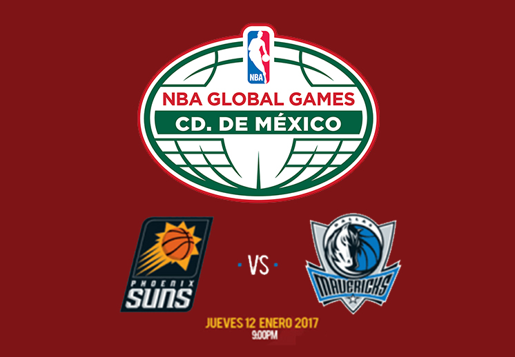 Suns y Mavericks frente a frente en el NBA Global Games CDMX