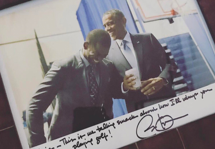 Los jugadores de la NBA agradecen a Obama