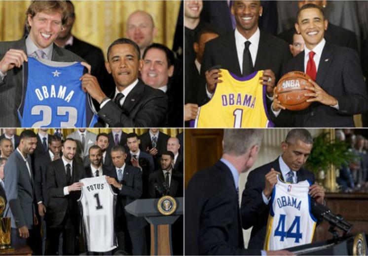 Los mejores momentos de Barak Obama en la NBA