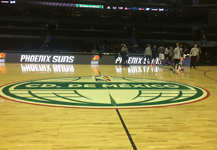 Thumbnail. Suns y Mavericks pusieron en marcha las actividades de los Global Games en la CDMX