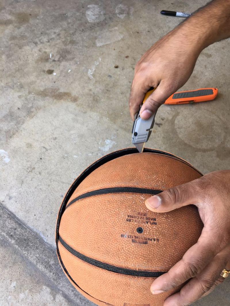 Maceta echa de balón: El corte