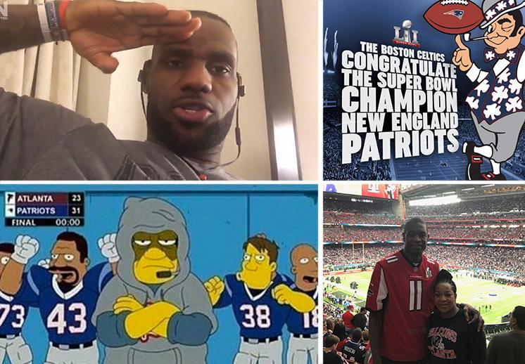 Reacciones de los jugadores de la NBA y el basquetbol al Super Bowl