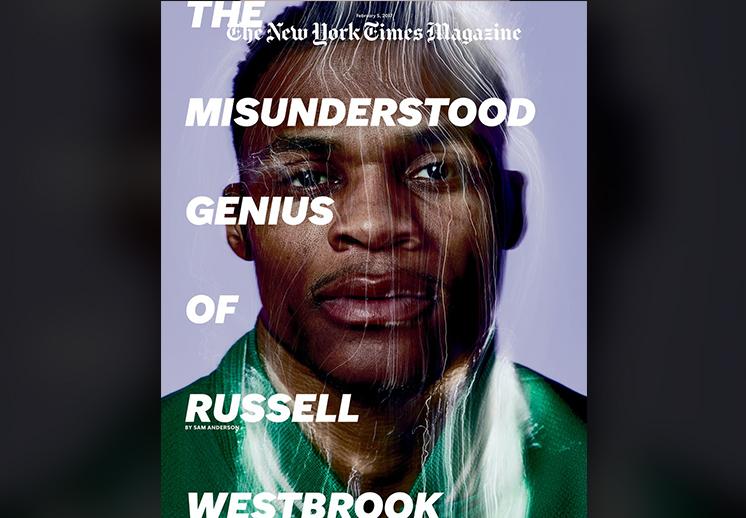 Westbrook protagonizó la portada de la revista del NY Times