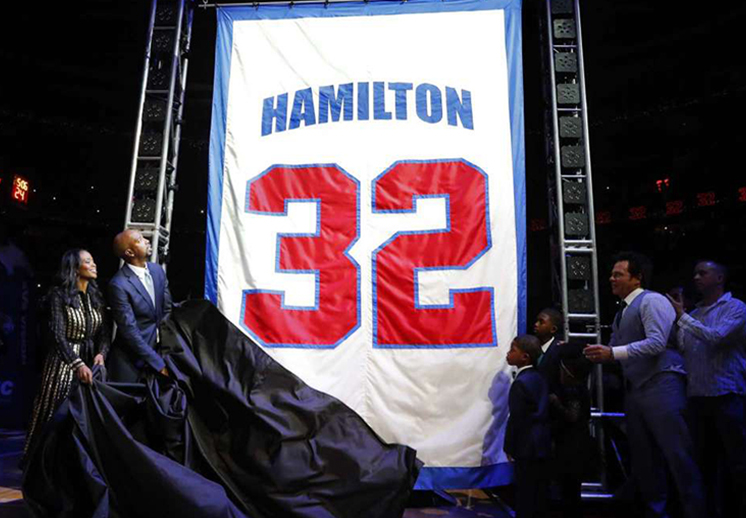 Los Pistons retiraron el jersey de Richard Hamilton