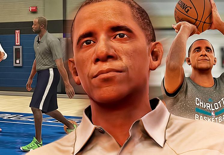 Barack Obama hizo una aparición en el juego de basquet NBA 2K17