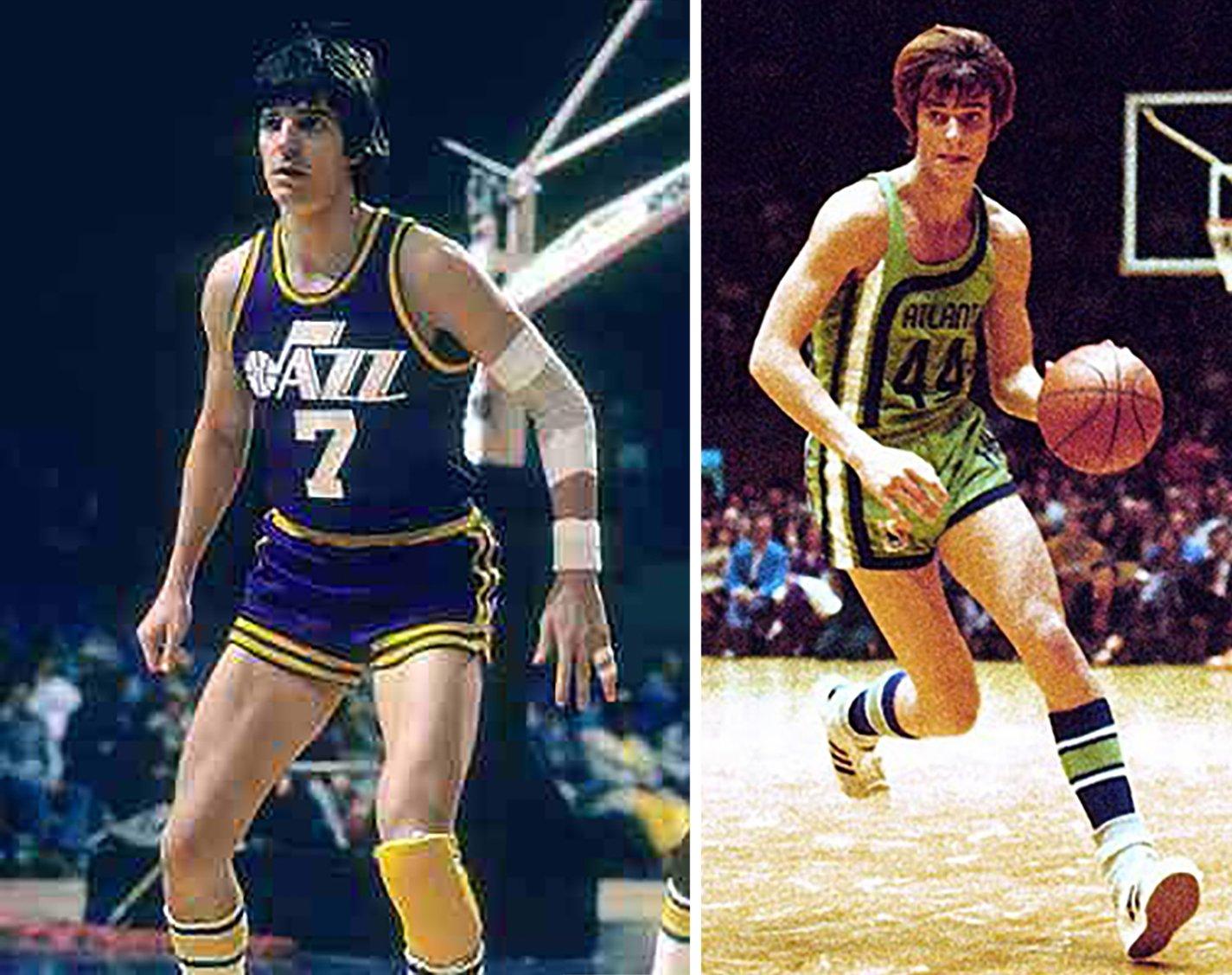 Pete Maravich jugando basquet