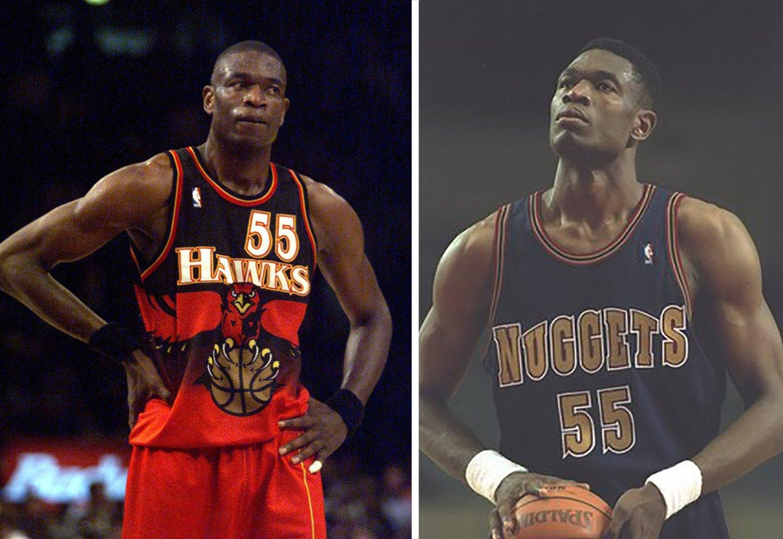 Dikembe Butombo: Los Denver Nuggets y los Atlanta Hawks retiraron su número 55. También estuvo en los Sixers, NY Knicks, Nets y en los Rockets también con el 55; pero estos equipos no retiraron su número. en viva basquet