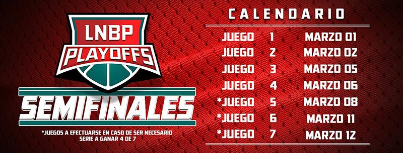 calendario de semifinales de la lnbp en viva basquet