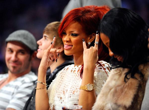 Rihanna y sus mejores fotos en la NBA