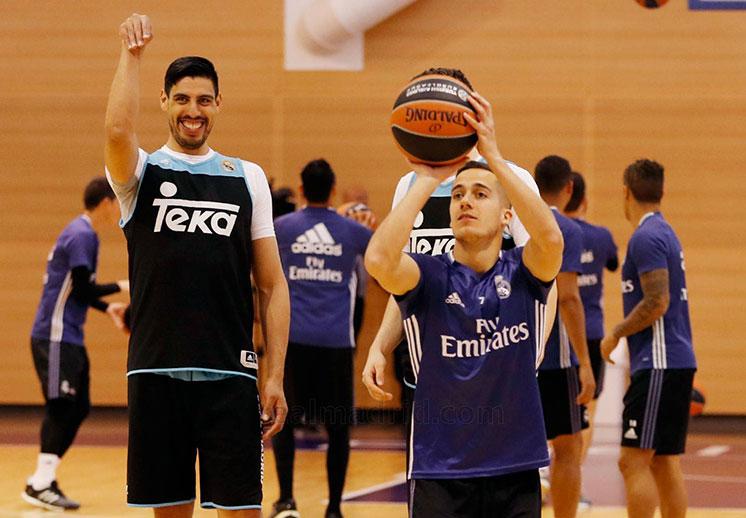Las estrellas del Real Madrid compartieron entrenamiento
