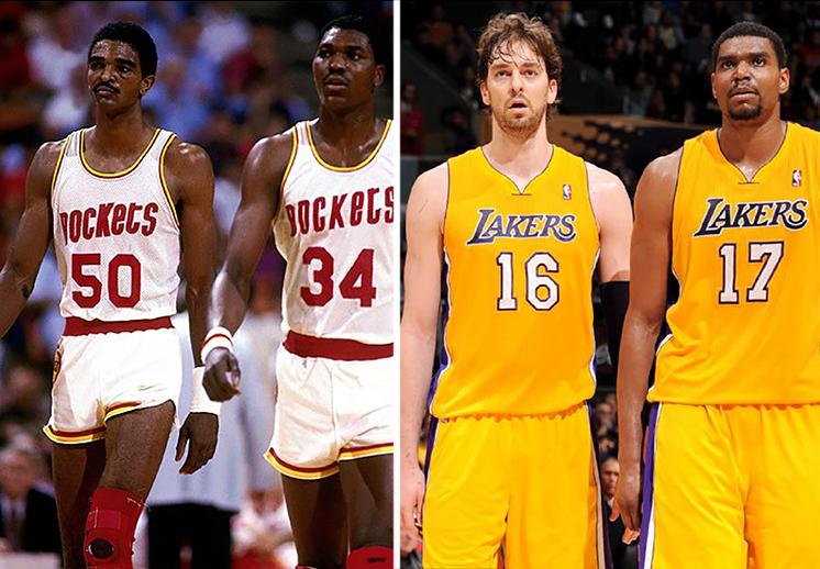 Las mejores parejas de jugadores altos en la NBA