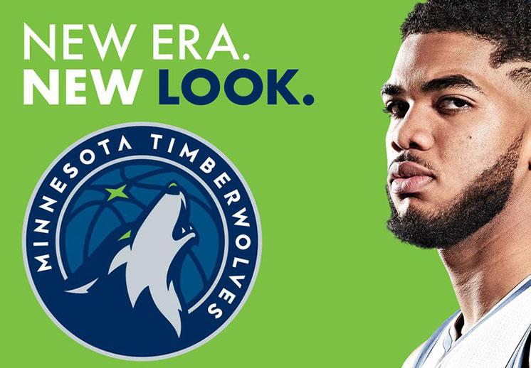 El nuevo logo de los Timberwolves de Minnesota