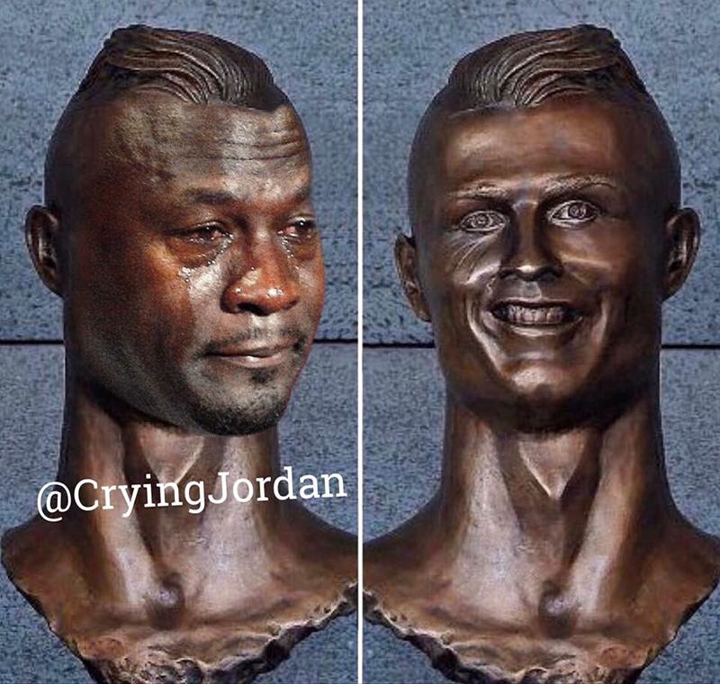 meme de jordan y cr7