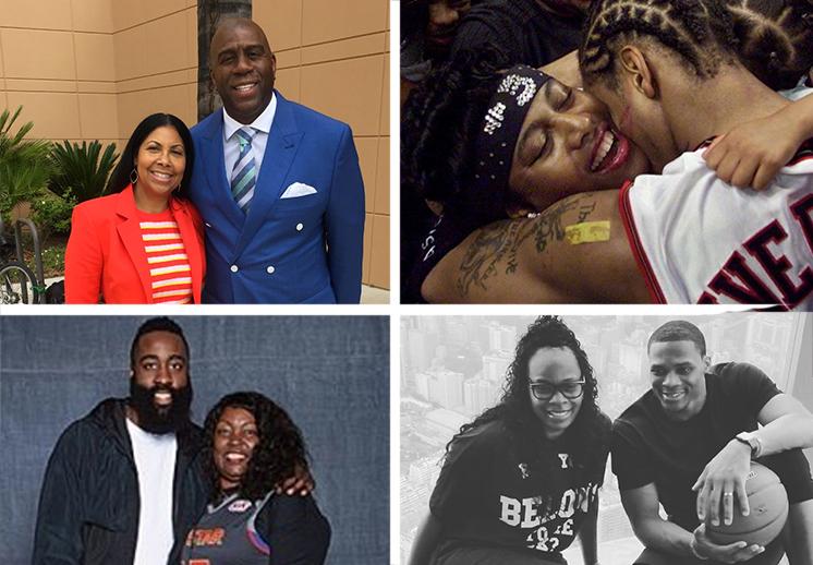 Los jugadores de la NBA festejaron el día de la madres