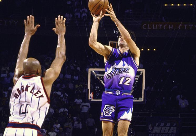 El triple de Stockton contra los Rockets