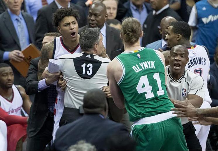 Se calentaron los ánimos entre Celtics y Wizards
