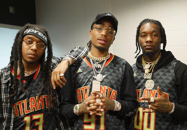 Migos y Chance The Rapper echaron la cáscara de basquet
