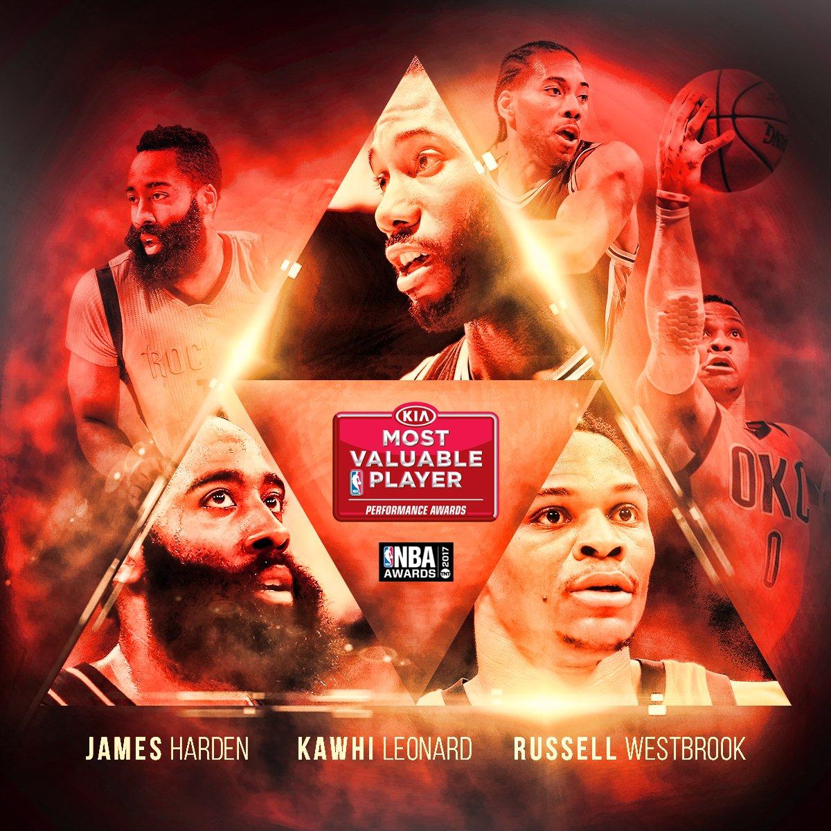 Westbrook, Harden y Leonard son los finalistas al MVP