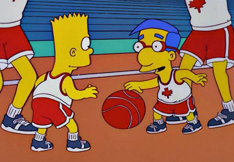 Los mejores momentos de los Simpson y el basquet