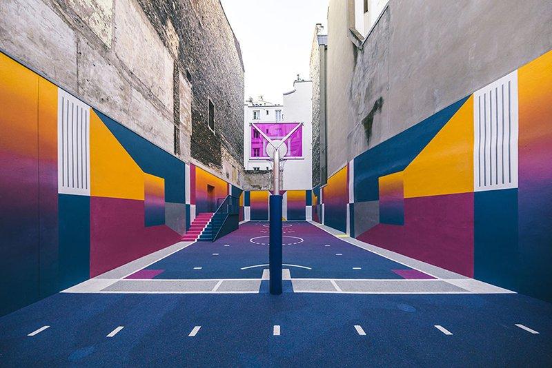 Surge una nueva cancha technicolor en Paris diseñada por Pigalle foto 8
