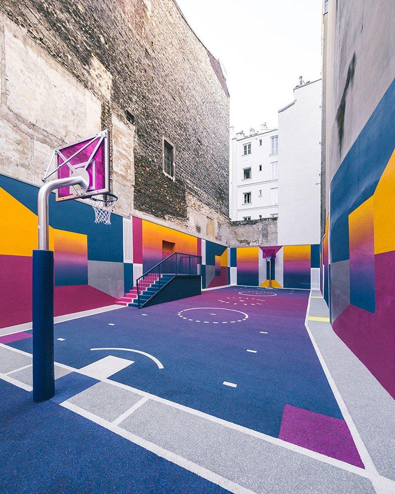 Surge una nueva cancha technicolor en Paris diseñada por Pigalle foto 6
