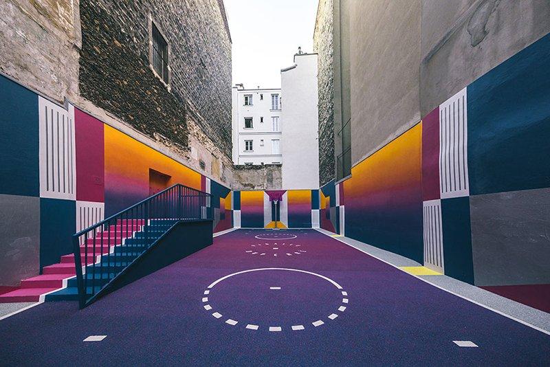 Surge una nueva cancha technicolor en Paris diseñada por Pigalle foto 1