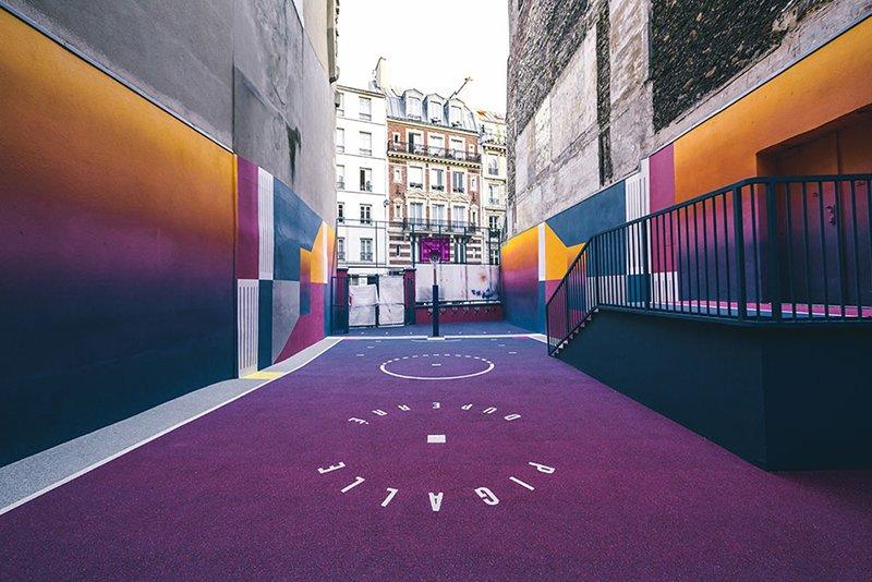 Surge una nueva cancha technicolor en Paris diseñada por Pigalle foto 2