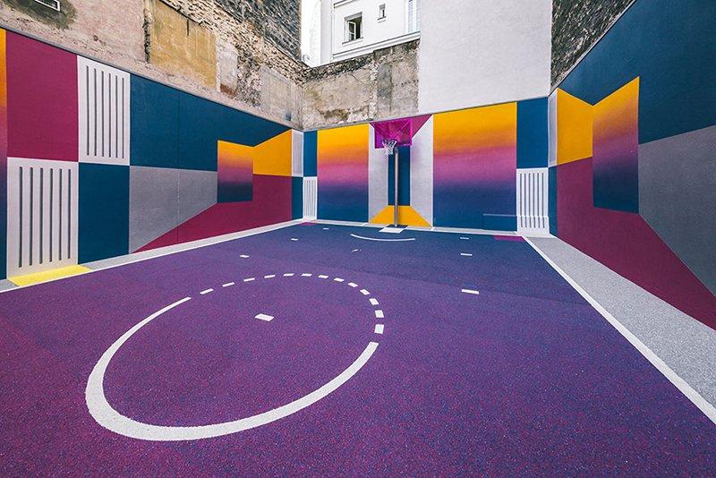 Surge una nueva cancha technicolor en Paris diseñada por Pigalle foto 4