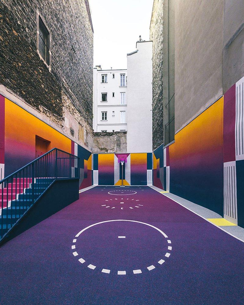 Surge una nueva cancha technicolor en Paris diseñada por Pigalle foto 5