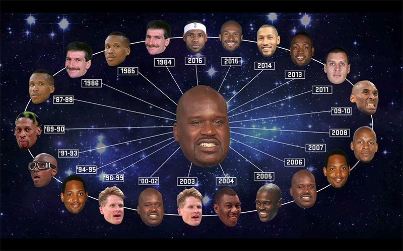 Shaq tiene una conexión con cada campeón desde 1984