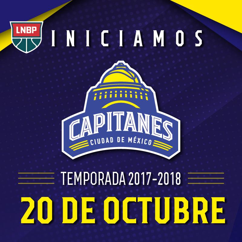 Los Capitanes debutarán el 26 de octubre en la CDMX