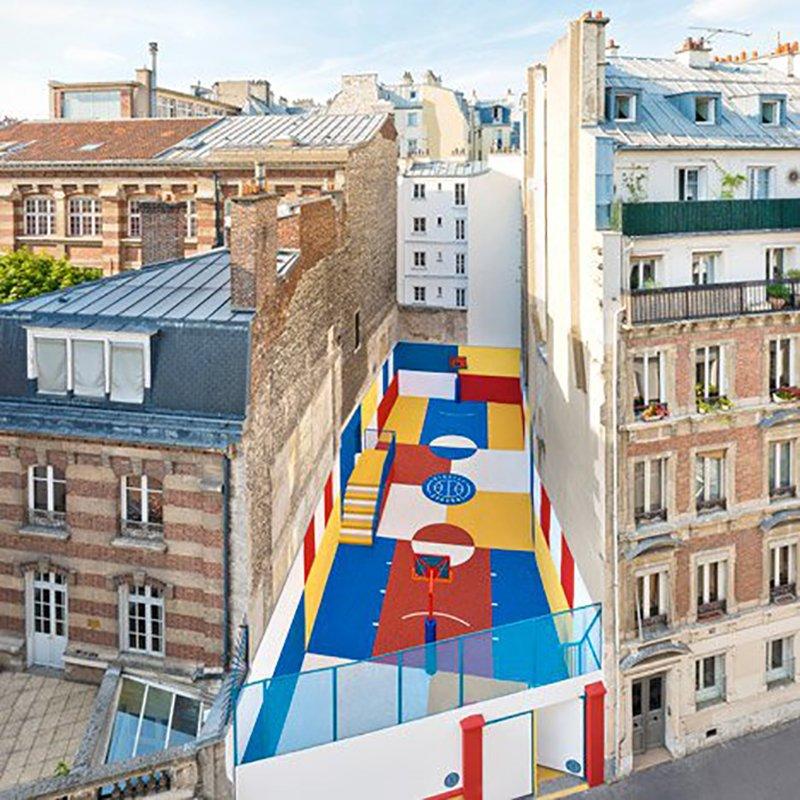 Surge una nueva cancha technicolor en Paris diseñada por Pigalle en 2015 foto 4