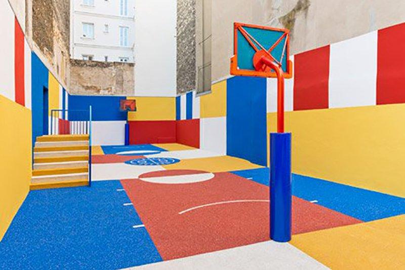 Surge una nueva cancha technicolor en Paris diseñada por Pigalle en 2015 foto 3