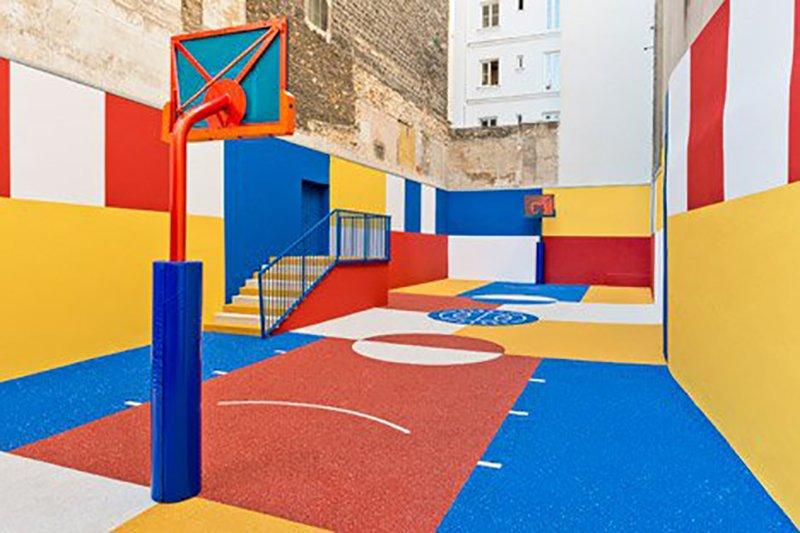 Surge una nueva cancha technicolor en Paris diseñada por Pigalle en 2015 foto 2